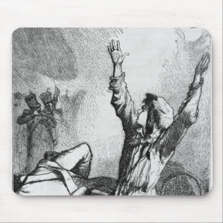 Gavroche had fallen only to rise again mouse mat