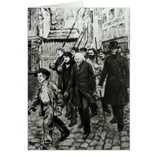 Gavroche Leading a Demonstration Greeting Card