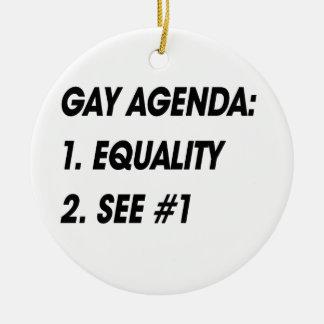 GAY AGENDA - EQUALITY CHRISTMAS ORNAMENT