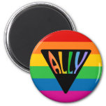 Gay Ally Triangle 6 Cm Round Magnet