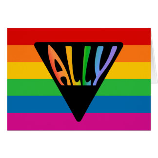 Gay Ally Triangle Card