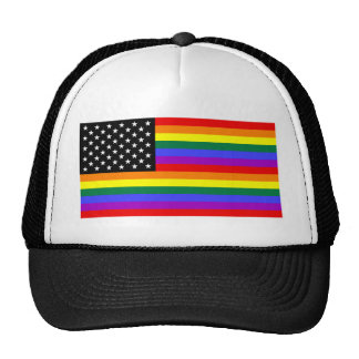 Gay America Pride Flag Cap