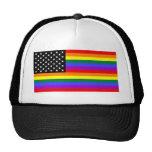 Gay America Pride Flag Trucker Hats