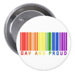 Gay and Proud  Barcode 7.5 Cm Round Badge