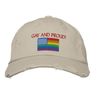 Gay and Proud Embroidered Hat