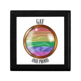 Gay And Proud Flag Button Gift Box