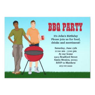 Gay BBQ Party Invitation