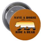 Gay Bear Colours Save A Horse Ride A Bear 7.5 Cm Round Badge