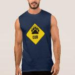 Gay Bear Cub Bear Paw Yellow Road Sign T-shirt