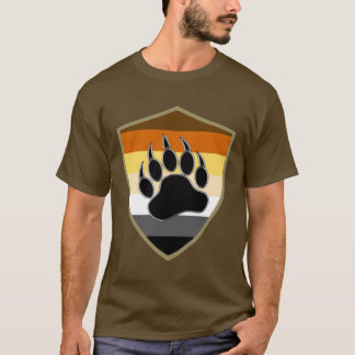 Gay Bear flag Bear Pride Shield Bear Paw T-Shirt
