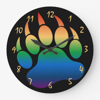 Gay Bear Paw Gorgeous and Dramatic black - Clock