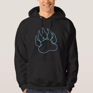 GAY BEAR PAW NEON BLUE HOODIE