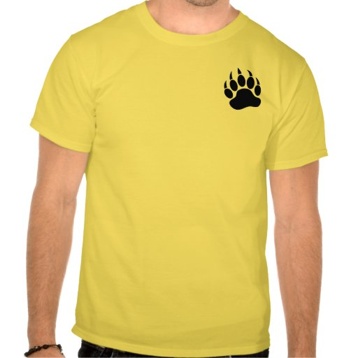 GAY BEAR PAW on the front WOOF on the back - Shirt