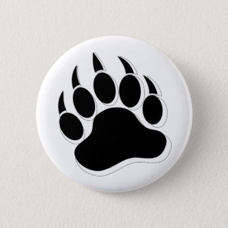 Gay Bear Pride 3D effect Bear Paw /Claw - Buttons