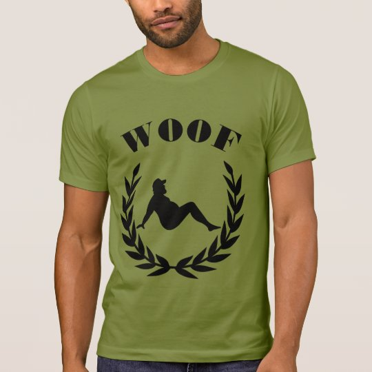 Gay Bear Pride Chubby Bear In Laurel Leaves WOOF T-Shirt