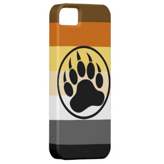 Gay Bear Pride Colors Bear Paw iPhone 5 Covers