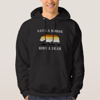 Gay Bear Pride Colors Save A Horse Ride A Bear Hoodie