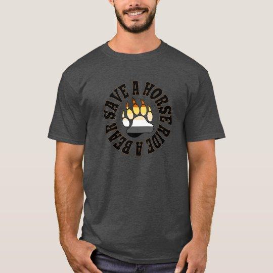 Gay Bear Pride Colours Save A Horse Ride A Bear T-Shirt