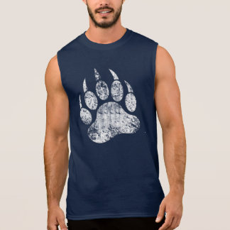 Gay Bear Pride distressed Bear Paw HOT !!! Sleeveless Shirt