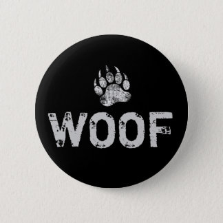 Gay Bear Pride distressed Bear Paw WOOF 6 Cm Round Badge