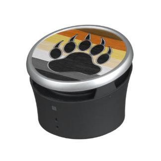 Gay Bear Pride Flag Bear Paw Bluetooth Speaker