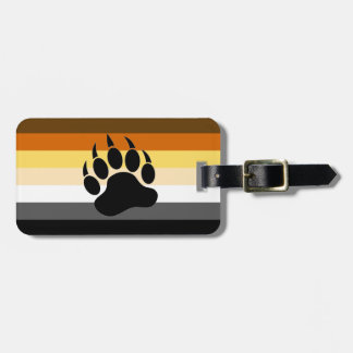 Gay Bear Pride Flag Bear Paw Luggage Tag