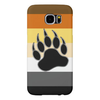 Gay Bear Pride Flag Bear Paw Samsung Galaxy S6 Cases