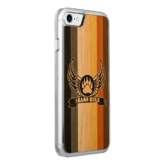 Gay Bear Pride Flag Bears Rule Wing Bear Paw Carved iPhone 8/7 Case