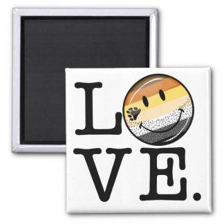 Gay Bear Pride Flag Love Square Magnet