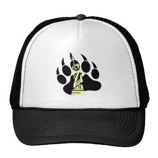Gay Bear Pride NYC Bear Bear Paw and the liberty Trucker Hats