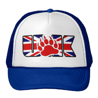 GAY BEAR RED BEAR PAW UK CAP