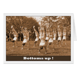 Gay Birthday Bottoms Up Card
