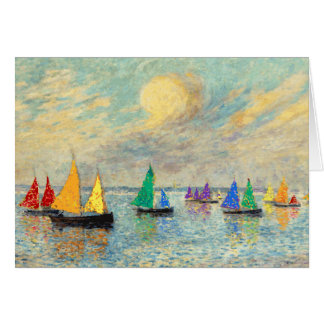 Gay Birthday Rainbow Sails Greeting Card