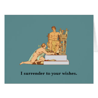 Gay Birthday Surrender to Wishes Big Greeting Card