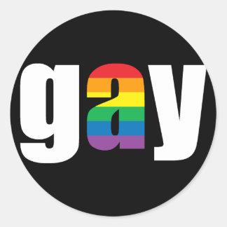 Gay Black Sticker