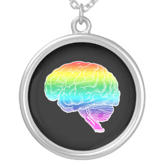 GAY BRAIN WHITE -.png Custom Necklace