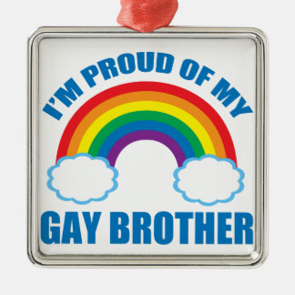Gay Brother Christmas Ornament