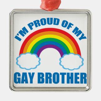 Gay Brother Christmas Ornament