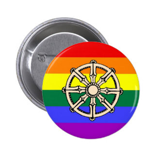 Gay Buddhist Pride 6 Cm Round Badge