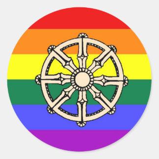 Gay Buddhist Pride Round Sticker