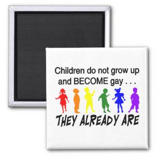 Gay Children Refrigerator Magnet