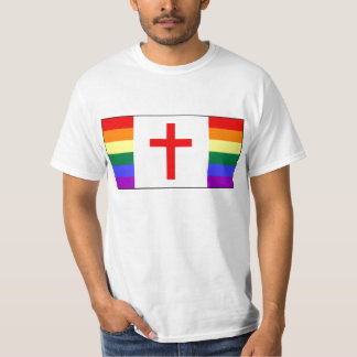 Gay Christian Canadian Flag T-shirts
