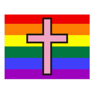 Gay Christian flag Postcard