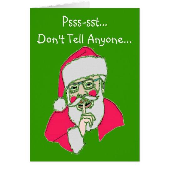 "Gay Christmas Cards---""The Twisted Santa"" Card"