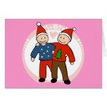 Gay Christmas Couple Card