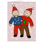 Gay Christmas Couple Cards