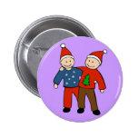 Gay Christmas Couple Pinback Buttons