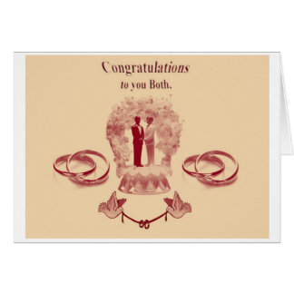 Gay Civil Partnership/Marriage Greeting Card