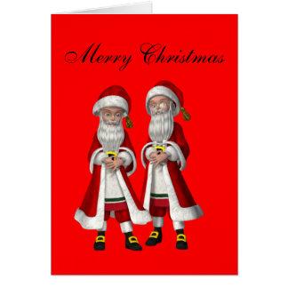 Gay Couple Christmas Card