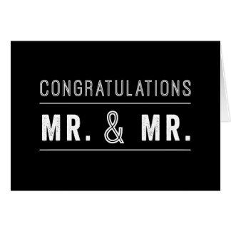 Gay Couple Wedding Congratulations Card Greeting Cards